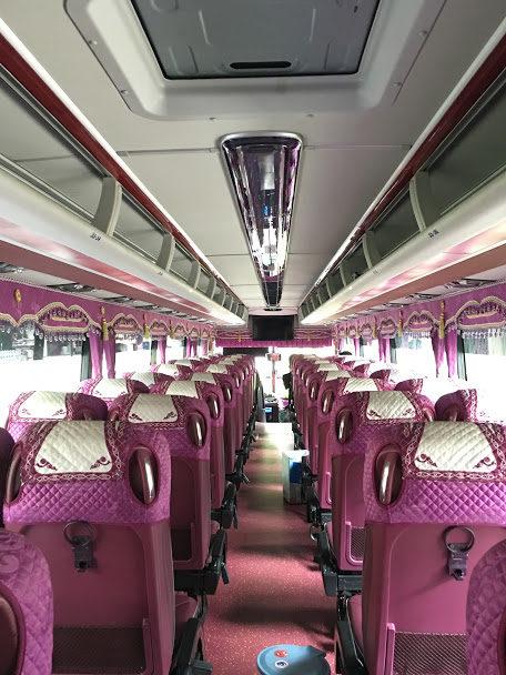 Nội thất xe Hyundai Universe 45 chỗ thuê tại quận 2 TPHCM đi Đà Lạt