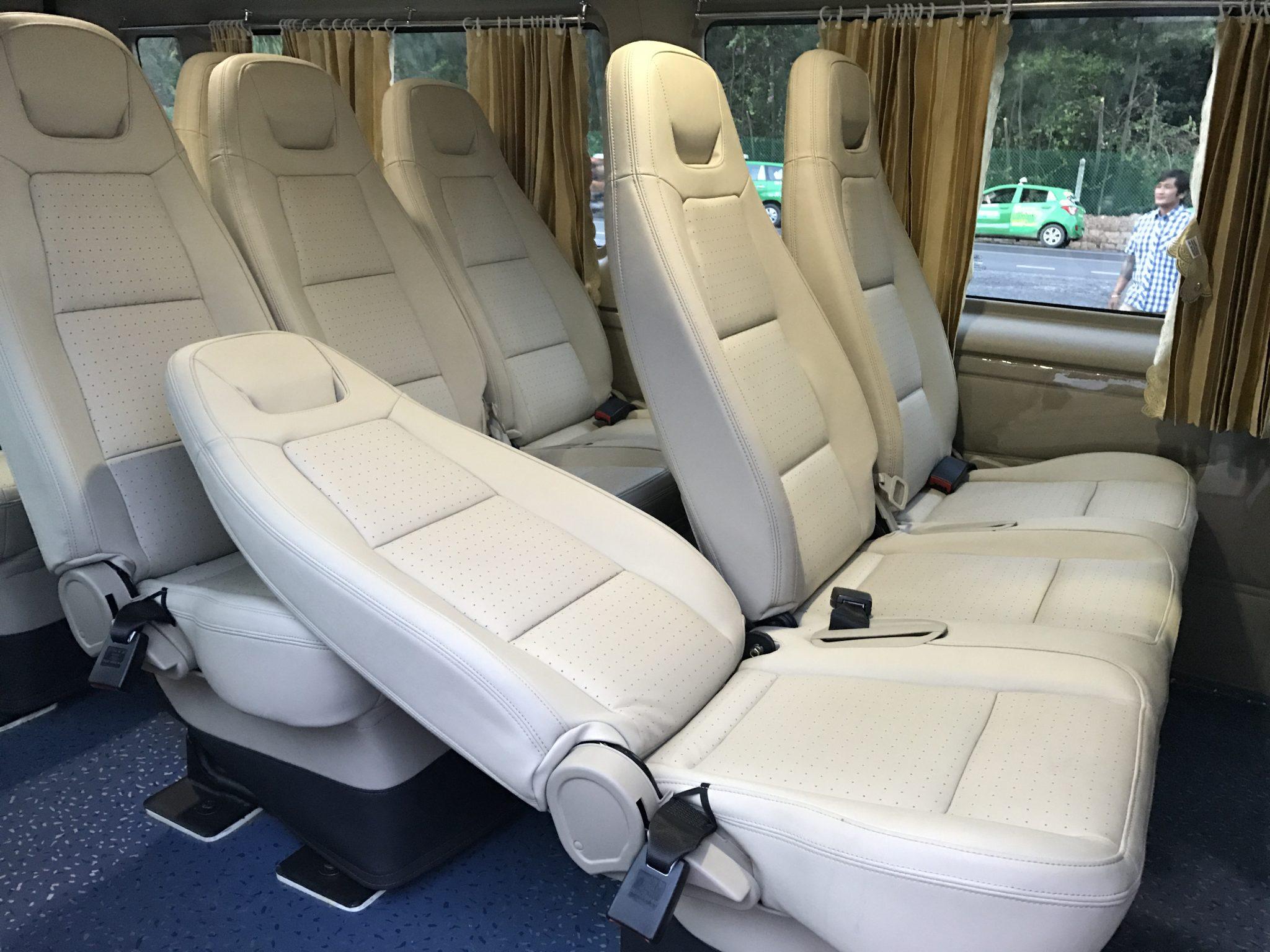 nội thất xe phi loan 16 chỗ tại quận 7 du lịch Vũng Tàu